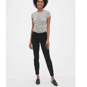 NWT Gap Curvy Skinny Ankle Pants 10 Black c142